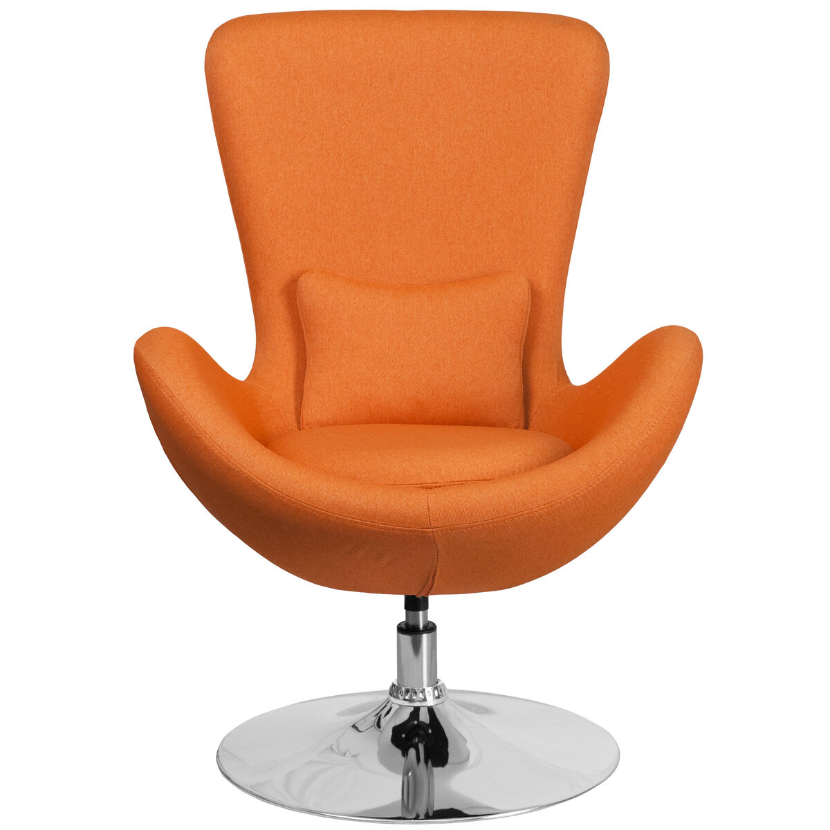 Our Egg Series Orange Fabric Side Reception Chair Is On Now
