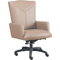 Quick Ship Leader Executive Y Stitch Designed Chair with Spider Base