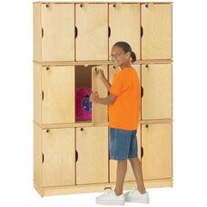 Stacking Lockable Lockers - 12 Individual Lockers