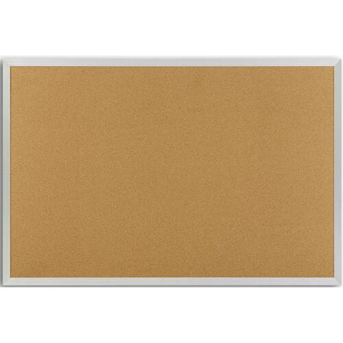 Plas-Cork Bulletin Board with Aluminum Trim - 48