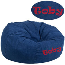 Personalized Oversized Denim Kids Bean Bag Chair