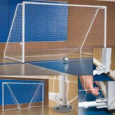 Portable Indoor Steel Frame Soccer Goals - Set of 2
