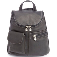 Tablet iPad Backpack - Genuine Colombian Leather - Black