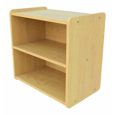 Toddler Size Straight Shelf Maple Storage Unit - Assembled