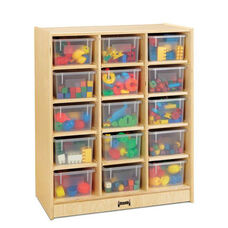 15 Cubbie-Tray Mobile Unit with Clear Trays