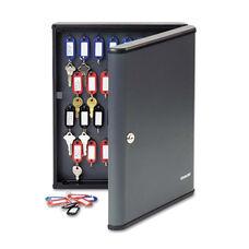 SteelMaster® Security Key Cabinets - 60-Key - Steel - Charcoal Gray - 12 x 2 3/8 x 14 3/4