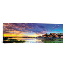 Willow Lake Spring Sunset by Bob Larson Gallery Wrapped Canvas Artwork