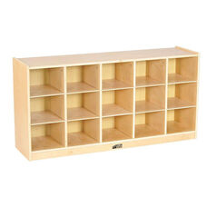 Birch 15 Cubby Tray Cabinet with 12