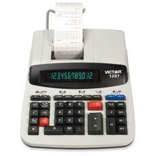 Victor Technology 12 Digit Calculator - 2 Color Commercial Print - 8