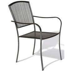 Sullivan Stackable Dining Arm Chair - Steel Mesh