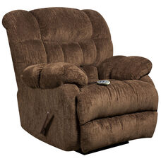 Massaging Columbia Mushroom Microfiber Rocker Recliner with Heat Control