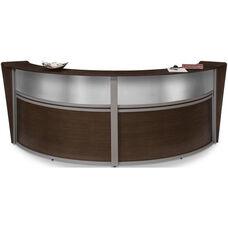 Marque Plexi Double Reception Station - Walnut