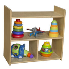 Tot Sized Durable Birch Plywood Pass Through Shelves with Tuff-Gloss Finish - Assembled - 24
