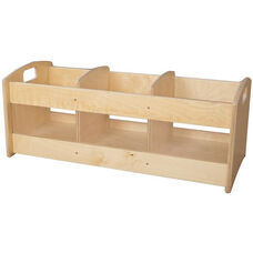 Wooden Toddler Three Section Book Browser - 36