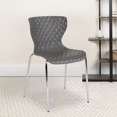 Lowell Contemporary Design Gray Plastic Stack Chair