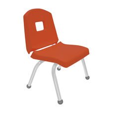 Split Bucket Stacking Chair with 12''H Seat and Ball Glides - Autumn Orange - 17''W x 14''D x 24''H