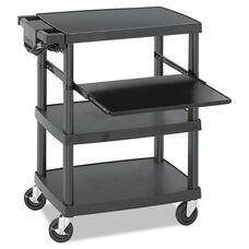 Safco® Multimedia Projector Cart - Four-Shelf - 27-3/4w x 18-3/4 x 34-3/4 - Black