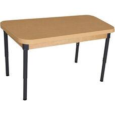 Rectangular High Pressure Laminate Table with Adjustable Steel Legs - 44