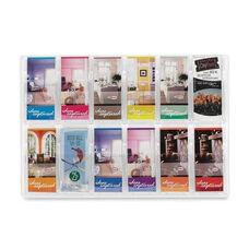 Safco Literature Rack - 12 Pamphlets - 30