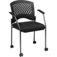Pro-Line II Rolling Black Visitors Chair - Titanium