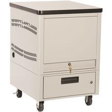 LapTop Depot 10 Capacity Cart - Light Gray