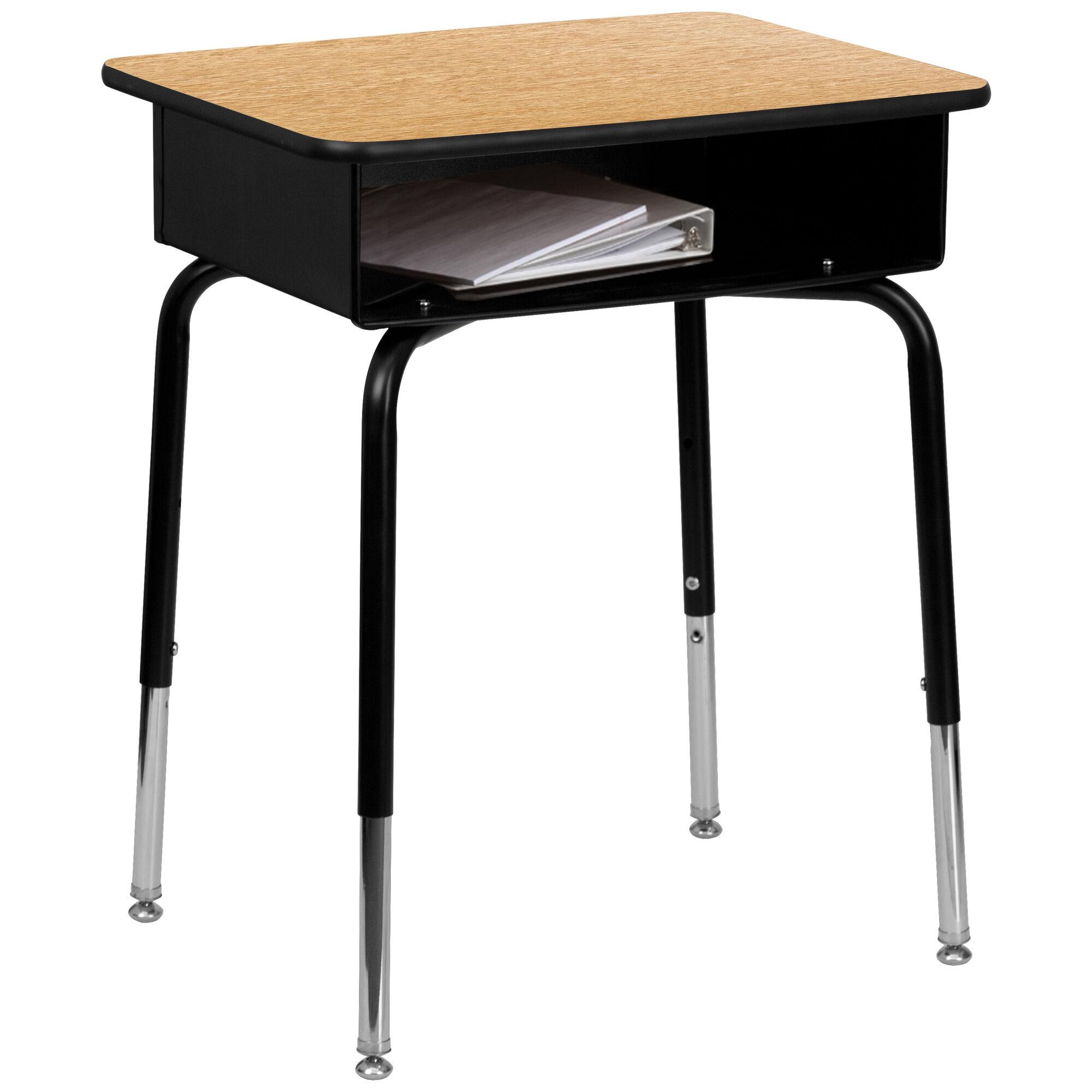 Natural Open Front Desk FD-DESK-GG   SchoolFurniture4Less.com