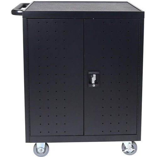 Our 32 Laptop/Chromebook Charging Cart with Timer - Black - 28.5