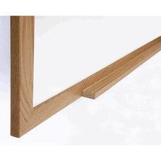 Ghent Wood Frame Porcelain Magnetic Whiteboard Includes 1 Marker and Eraser - 4
