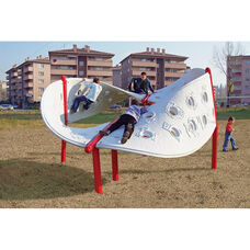 Circular Aztec Play Climber with Four Weather and Fade Resistant Polyethylene Twisting Climbing Walls - 150