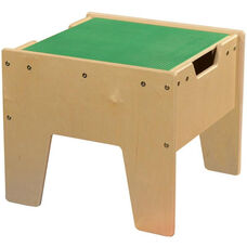 LEGO™ Compatible Reversible Table with Green Top - Assembled - 18.63