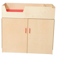 Deluxe Infant Care Center with Closable Storage Below - Assembled - 43