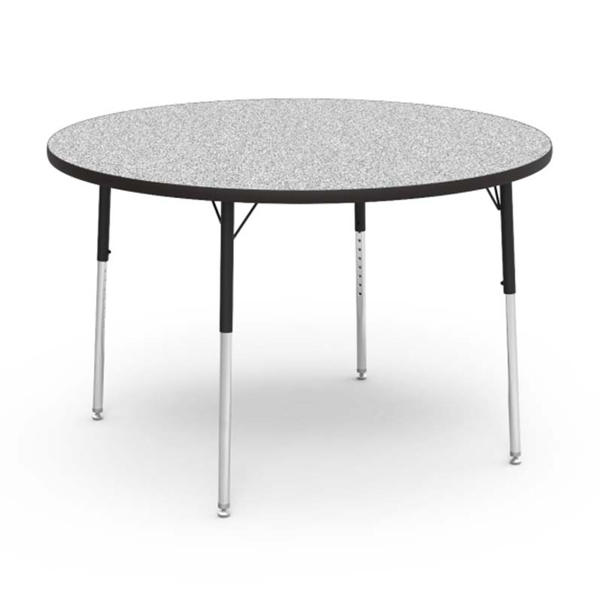 Adjustable Height Round Table.Quick Ship 4000 Series Adjustable Height Round Laminate Activity Table With Gray Nebula Top 48 Diameter X 22 H 30 H