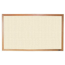 700 Series Tackboard with Wood Frame - Fabricork - 96