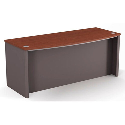 Our Connexion Executive Desk with Wire Management and Modesty Panel - Bordeaux and Slate is on sale now.