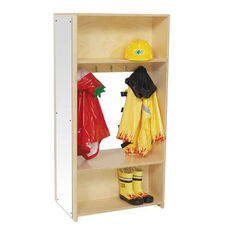 Dress Up Center with 5 Double Hooks on Each Side and Acrylic Safety Mirror - Assembled - 15