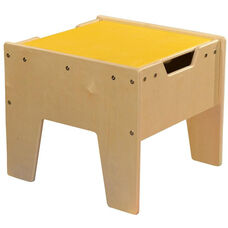 LEGO™ Compatible Reversible Table with Yellow Top - Unassembled - 18.63
