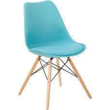 Ave Six Allen Guest Chair with Natural Wood Legs - Teal