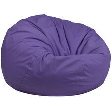 Oversized Solid Purple Bean Bag Chair for Kids and Adults