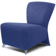 Bene Lounge Chair with Polished Feet - Leather