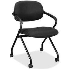 Basyx Black Frame Nesting Armchair with Castors