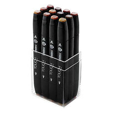 ShinHan Art TOUCH Twin 12-Piece Wood Colors Marker Set