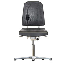 Aklaim Flagship Series Black Task Chair with Ergonomic Upholstery and Star Base with Glides - Low Profile
