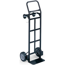 Tuff Truck™ Convertible Hand Truck and Platform Truck with Toe Plate - Black