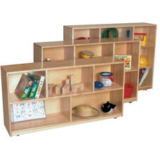 Solid Maple Single Storage Unit with Casters - Assembled - 48