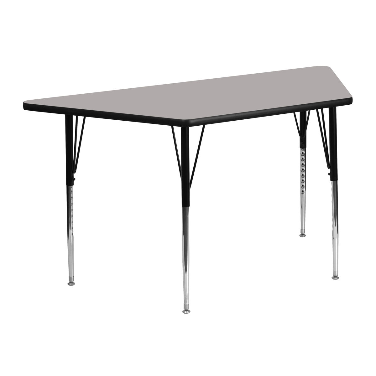 25''W X 45''L Trapezoid Grey HP Laminate Activity Table