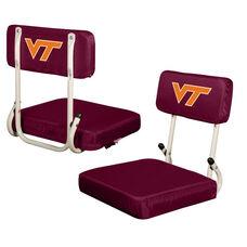 Virginia Tech Team Logo Hard Back Stadium Seat