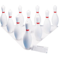 Plastic Bowling Pins - Set of 10 Pins