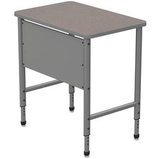Apex Series Height Adjustable Stand Up Desk with PVC Edge - Gray Nebula Top with Gray Edge and Legs - 36