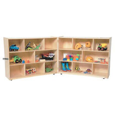 X-Deep Fold-n-Secure Healthy Kids Plywood Storage Unit with Heavy Duty Casters - 96