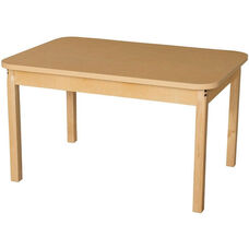 Rectangular High Pressure Laminate Table with Hardwood Legs - 44